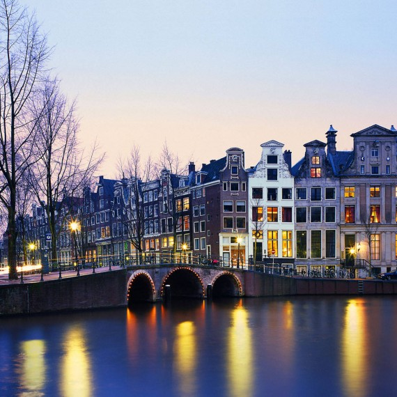 Holland city twilight wallpaper